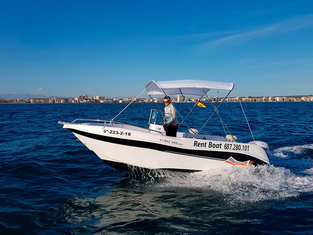 rent boat santa pola voraz 500